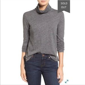 Madewell NWT Whisper Cotton Turtle Gray Top